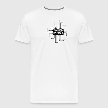 FRÅN HEART PC FREAK - Premium-T-shirt herr