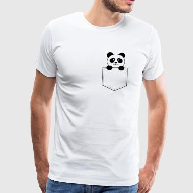 Panda baby in the vest pocket - Men's Premium T-Shirt