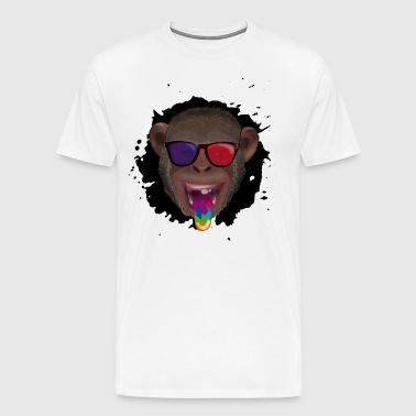 3d monkey - Men's Premium T-Shirt