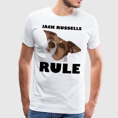 Jack russels rule2 - Men's Premium T-Shirt