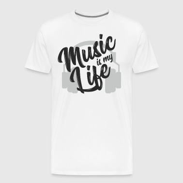 Music is my Life - Music Is My Life Gift - Mannen Premium T-shirt
