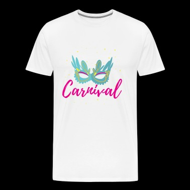 Carnival Gift Jecken Rummel Funfair Mask - Men's Premium T-Shirt