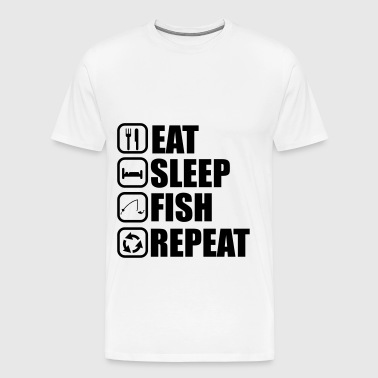 Eat sleep fish - fishing, fishing - Men's Premium T-Shirt