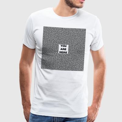 Labyrinth QR code - Men's Premium T-Shirt