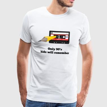 90er Kinder - Only 90's kids will remember - Männer Premium T-Shirt