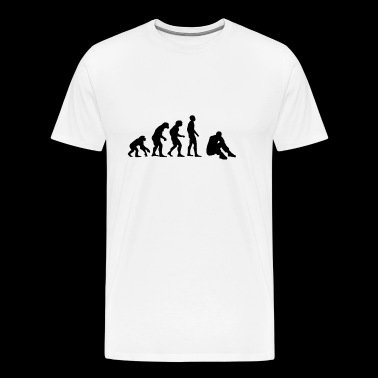 evolution depression - Premium-T-shirt herr