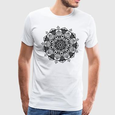 Swirly Mandala - Men's Premium T-Shirt