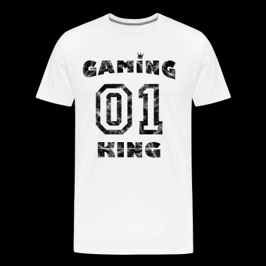 Vintage Gamer Game - Gaming King - Männer Premium T-Shirt