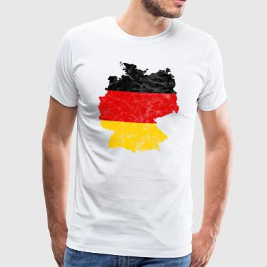 Germany national team map vintage - Men's Premium T-Shirt