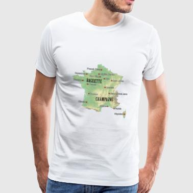 France Atlas - Mannen Premium T-shirt
