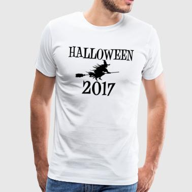 Hallowen 2017 Witch Witch's Broom Walpurgisnacht - Mannen Premium T-shirt