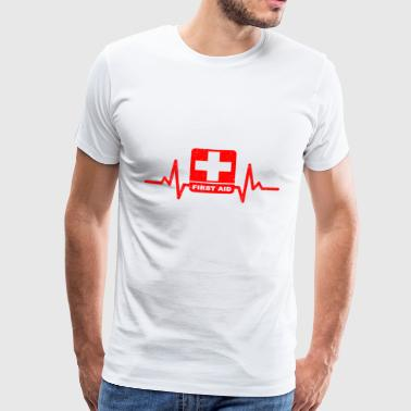 My heart beats to help to others! - Men's Premium T-Shirt