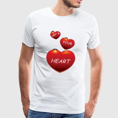 HEART1000 - Premium T-skjorte for menn