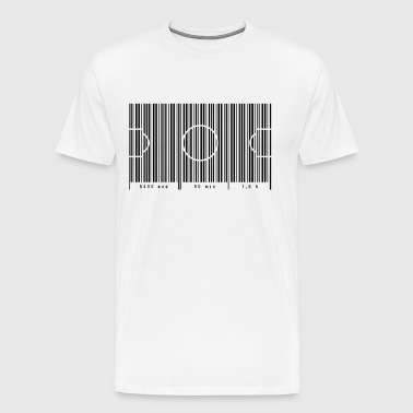 Football field as barcode 90 min - Men's Premium T-Shirt