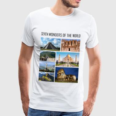 Wonders of the World - Wonders of the Modern World - Men's Premium T-Shirt