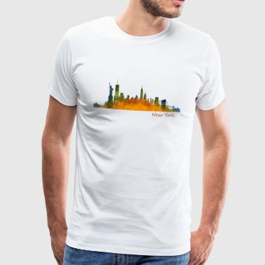 NYC New Yorks skyline silhuet By NY - Herre premium T-shirt