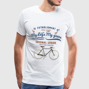 Mes jambes Mes vitesses - Mes jambes Mes cours - T-shirt Premium Homme