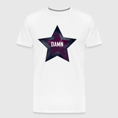 "A star with the word ""DAMN"". Violet-grenade - Men's Premium T-Shirt"
