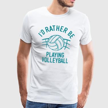 Volleyball volleyball player volleyballer gift - Men's Premium T-Shirt