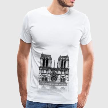 Around The World: Notre Dame - Paris - Premium T-skjorte for menn