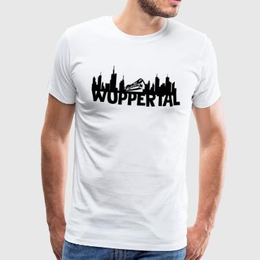 Wuppertal skyline - Men's Premium T-Shirt