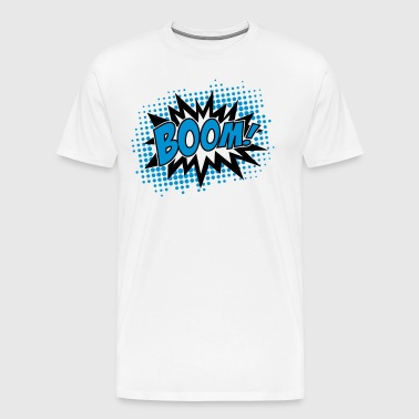 BOOM, comic, Sprechblase, cartoon, style, bang, - Männer Premium T-Shirt