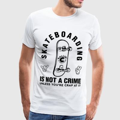 Skateboarding is not a crime - ROLLIN 'BRAND - Men's Premium T-Shirt