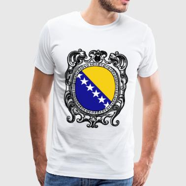 Bosnia Herzegovina flag T Shirt Bosnian - Men's Premium T-Shirt