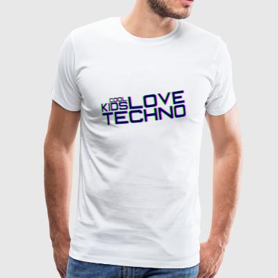 Les enfants cool adorent la techno - T-shirt Premium Homme