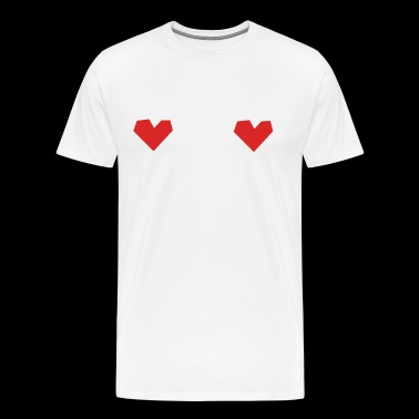 Heart tits nipple cover - Men's Premium T-Shirt