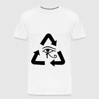 Reincarnation gift idea arrows sign icon - Men's Premium T-Shirt