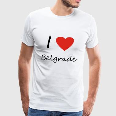 Belgrade heart gift idea - Men's Premium T-Shirt