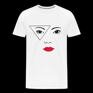 woman face - Men's Premium T-Shirt