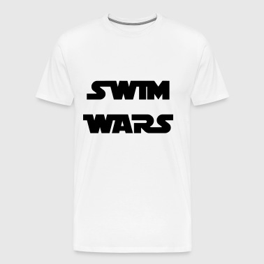 Swim WARS - Premium-T-shirt herr