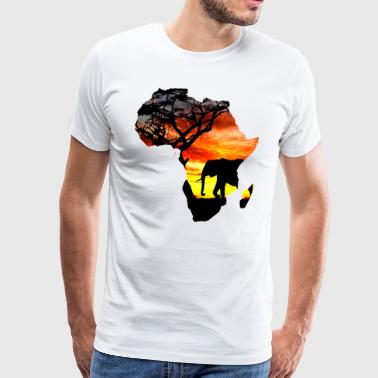 Africa love card - Men's Premium T-Shirt
