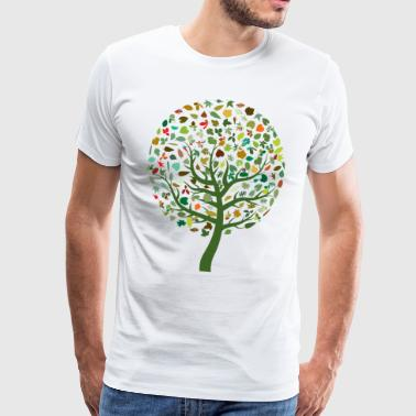 Seasonal Leaves - Men's Premium T-Shirt