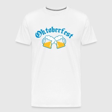 Oktoberfest Beer jugs 3c - Men's Premium T-Shirt