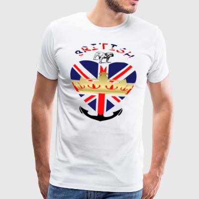 British - Premium T-skjorte for menn