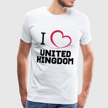 I love United Kingdom - Männer Premium T-Shirt