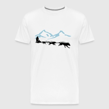 Husky - dog sled - Yukon Quest - Alaska  - Men's Premium T-Shirt