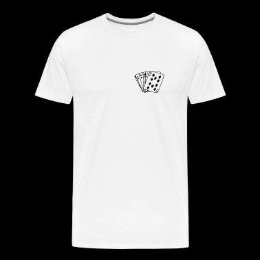 Royal flush - Herre premium T-shirt