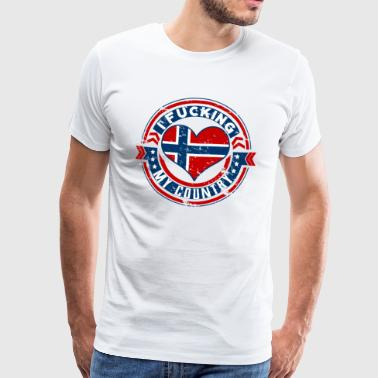 I love my country gift for the people from Norway - Männer Premium T-Shirt