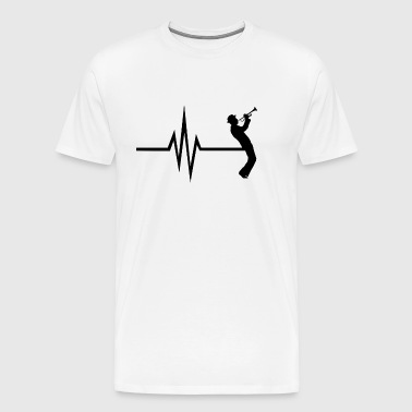 My heart beats for trumpet instrument musicians - Men's Premium T-Shirt