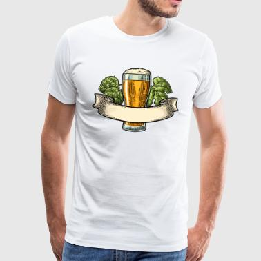BEER RIBBON - Premium-T-shirt herr