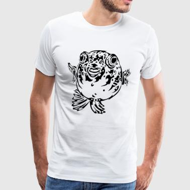 Puff Blowfish - Herre premium T-shirt