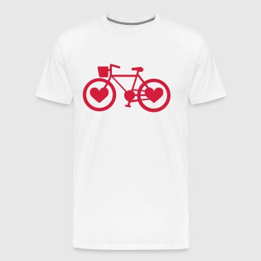 Bike Heart - Men's Premium T-Shirt