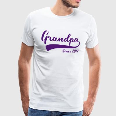 Grandpa since 2017 - Men's Premium T-Shirt