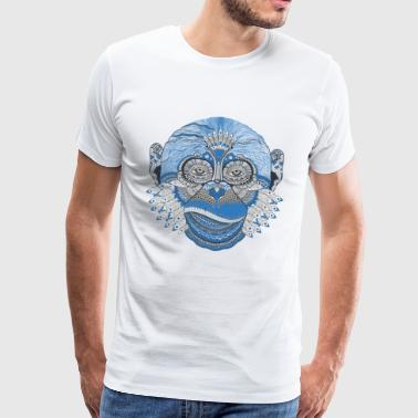 Monkey chimpanzee art - Men's Premium T-Shirt