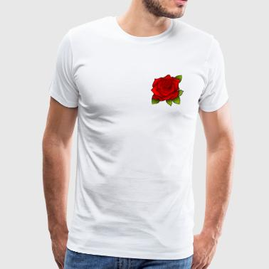 Flower Rose stylish fashion - Men's Premium T-Shirt
