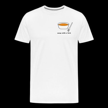 soup with a fork - Men's Premium T-Shirt